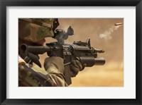 Framed M4 Carbine Firing