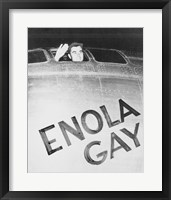 Framed Tibbets Enola Gay