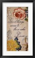 Good Things Framed Print