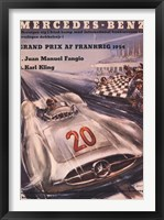 Framed Mercedes Benz 1954 Grand Prix