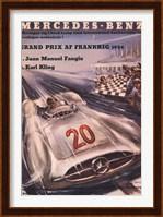 Framed Mercedes Benz 1954 Grand Prix