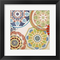 Spirographic Square II Framed Print