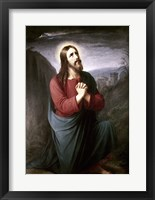 Framed Christ Praying in Gethsemane Christian Schleisner (1810-1882)