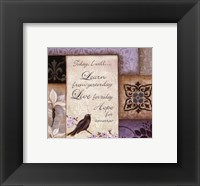 Framed Lavender Inspiration I