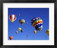 Framed Hot Air Balloons Floating Away