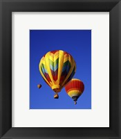 Framed Three Rainbow Hot Air Balloons