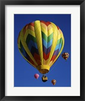 Framed Yellow Rainbow Hot Air Balloon