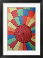 Framed High angle view of a hot air balloon