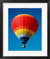 Framed Low angle view of a hot air balloon in the sky, New Mexico, Rainbow