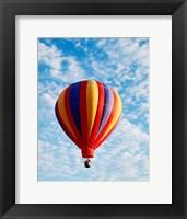 Framed hot air balloon in the sky, Albuquerque, New Mexico, USA