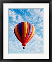 Framed hot air balloon in the sky, Albuquerque, New Mexico, USA