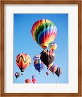 Framed Cluster of Hot Air Balloons