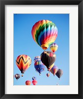 Framed Cluster of Hot Air Balloons