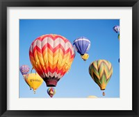 Framed Low angle view of hot air balloons in the sky