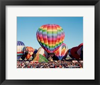 Framed Hot air balloons at Albuquerque Balloon Fiesta, Albuquerque, New Mexico, USA