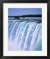 Framed Water flowing over Niagara Falls, Ontario, Canada