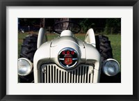 Framed Ford Tractor, model 600 made in 1954, close-up