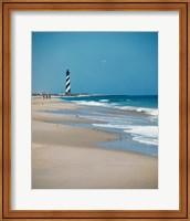 Framed Cape Hatteras Lighthouse Cape Hatteras National Seashore North Carolina USA Prior to 1999 Relocation