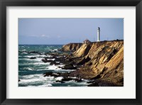 Framed Lighthouse on the coast, Point Arena Lighthouse, Point Arena, California, USA
