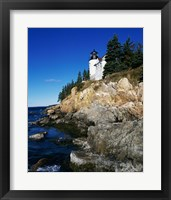 Framed Bass Harbor Head Lighthouse Mount Desert Island Maine USA
