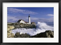 Framed Portland Head Lighthouse Cape Elizabeth Maine  USA