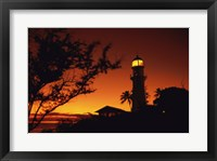 Framed Diamond Head Lighthouse Oahu Hawaii USA