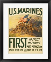 Framed Enlist with the Soilders of the Sea