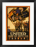 Framed United Behind the Service Star