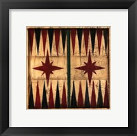 Framed Small Antique Backgammon