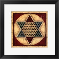 Framed Small Antique Chinese Checkers