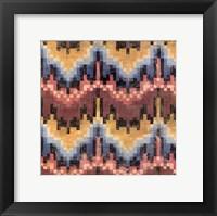 Flame Stitch II Framed Print