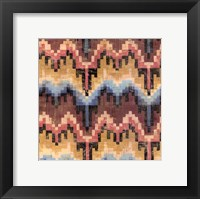 Flame Stitch IV Framed Print