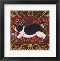 Framed Folk Rabbit I