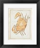 Framed Cancer Zodiac Sign