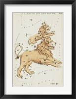Framed Leo Major and Leo Minor Constellation