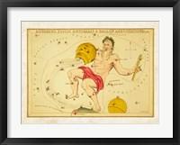 Aquarius, Pices Australis & Ballon Aerostatique Constellation Framed Print