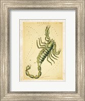 Framed Scorpio Zodiac Sign