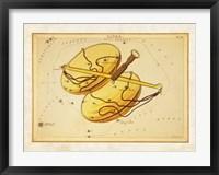 Framed Libra Zodiac Sign