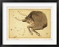 Framed Taurus Zodiac Sign