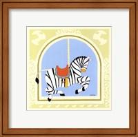 Framed Zebra Carousel