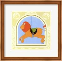 Framed Lion Carousel