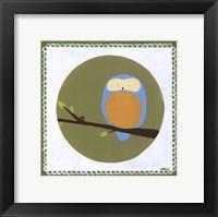 Owl Cameo IV Framed Print