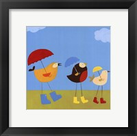 Rainy Day Birds I Framed Print