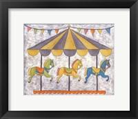 Carnival Carousel Framed Print