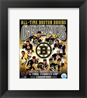 Framed Boston Bruins All-Time Greats Composite