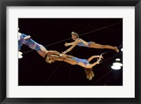 Framed Flying Redpaths Royal Hanneford Circus mid air