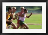 Framed Male athletes running