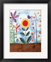 Framed Whimsical Flower Garden II