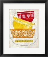 Retro Ware I Framed Print
