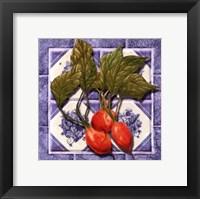 Framed Radishes Tile